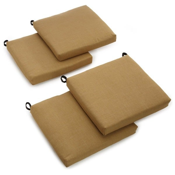 "Blazing Needles Indoor/Outdoor Chair Cushion (Set of 4) - 20""x19"". Opens flyout."
