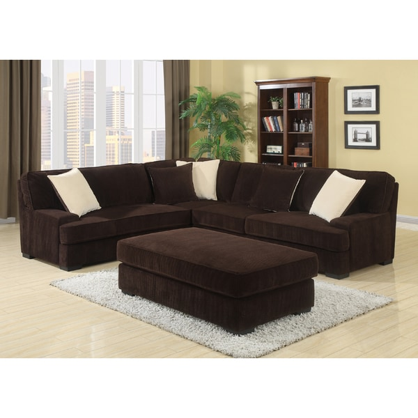 Noah dark brown living room set free shipping today for Dark brown living room set