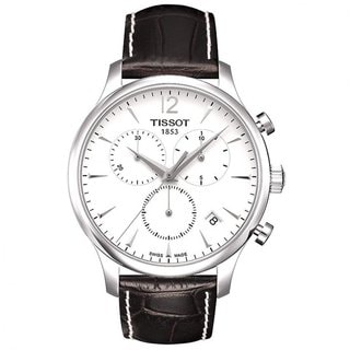 tissot men s t0636171603700 t classic tradition silvertone steel tissot men s t0636171603700 t classic tradition silvertone steel watch shipping today overstock com 15118104