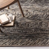 The Gray Barn Junstrom Hand-woven Grey/ Brown Casual Wool Area Rug