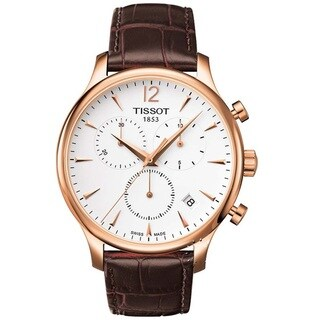 Tissot Men's T0636173603700 'Tradition Classic' Rose Goldtone/ Leather Watch
