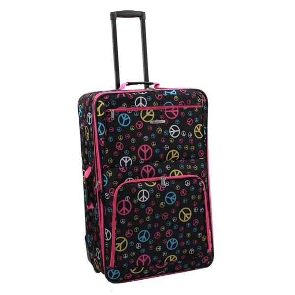 Rockland Deluxe Peace 28-inch Expandable Rolling Upright Suitcase
