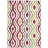 Waverly Aura Of Flora Optical Delights Lipstick Area Rug