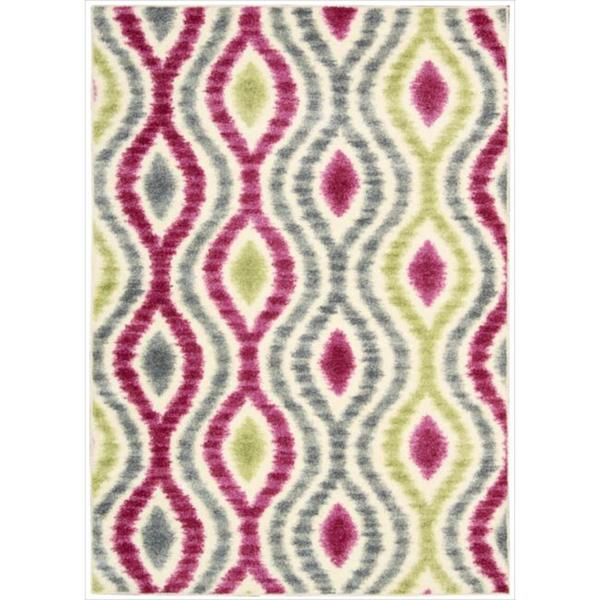 Waverly Aura of Flora Optical Delights Jazzberry Area Rug by Nourison (5'3 x 7'5)