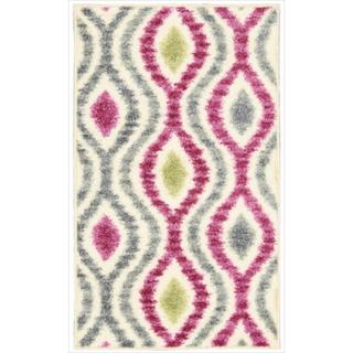 Waverly Aura of Flora Optical Delights Jazzberry Area Rug by Nourison (7'9 x 10'10)