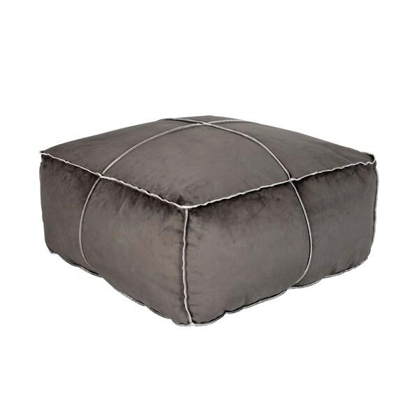shop tucker marine velvet square poof ottoman free shipping today