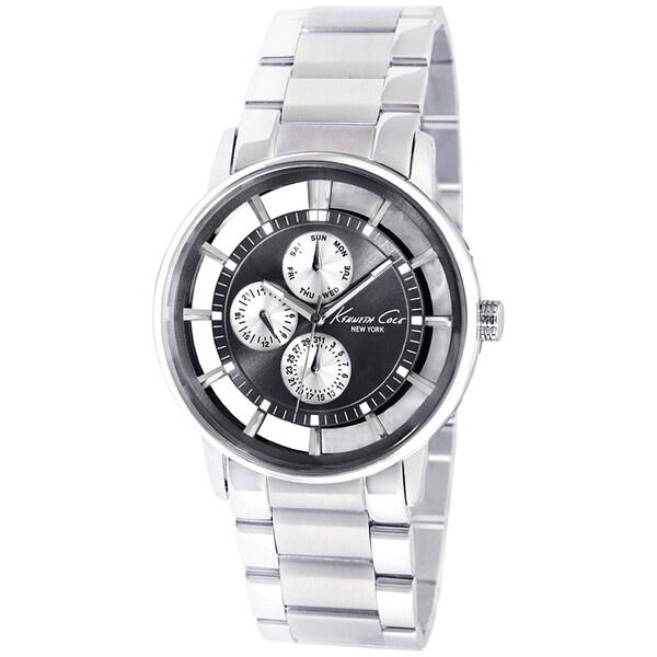 Kenneth Cole Men's Transparent Silvertone Steel Quartz Watch