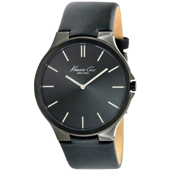 Kenneth Cole Men's Black Calf Skin Quartz Watch