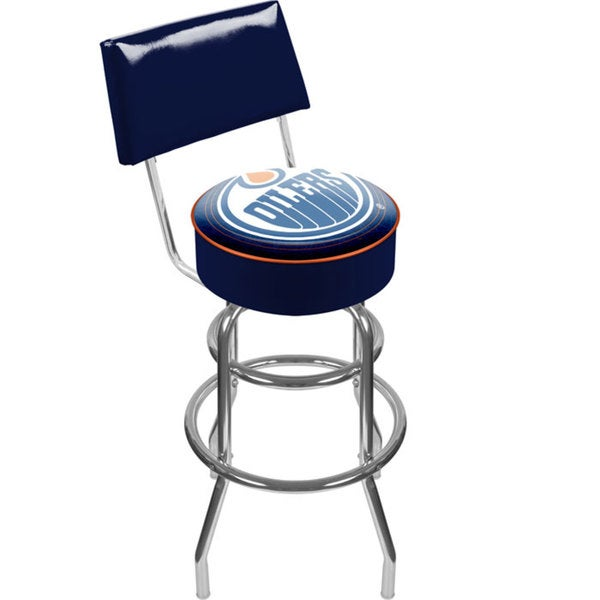Officially Licensed NHL Padded Swivel Bar Stool with Back