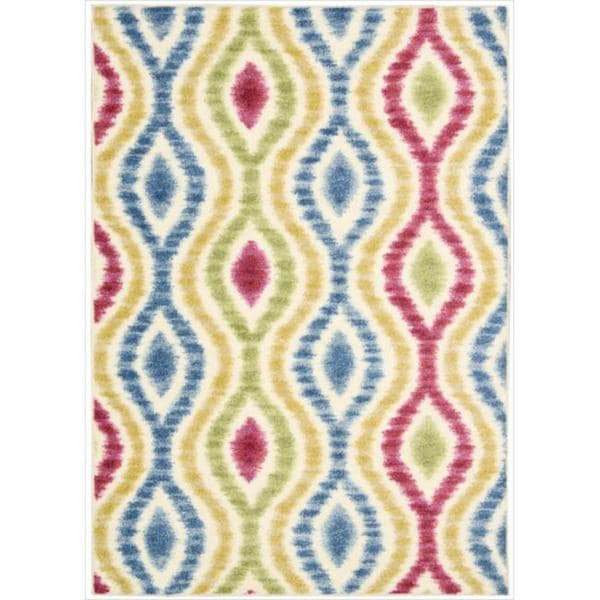Waverly Aura of Flora Optical Delights Lipstick Area Rug by Nourison (5'3 x 7'5) - 5'3 x 7'5