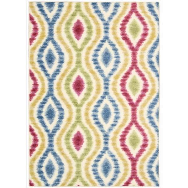 Waverly Aura of Flora Optical Delights Lipstick Area Rug by Nourison (7'9 x 10'10)
