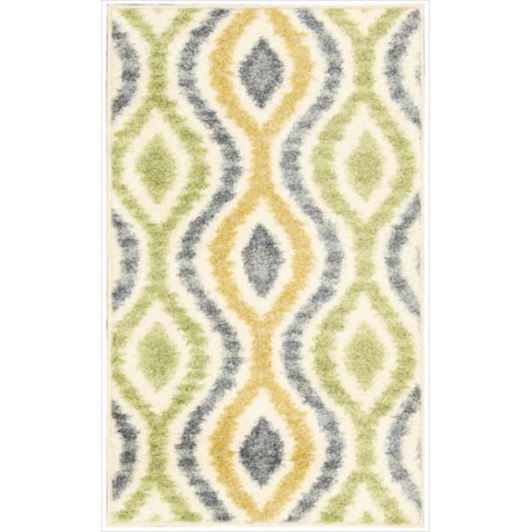 Waverly Aura of Flora Optical Delights Wasabi Area Rug by Nourison (7'9 x 10'10)
