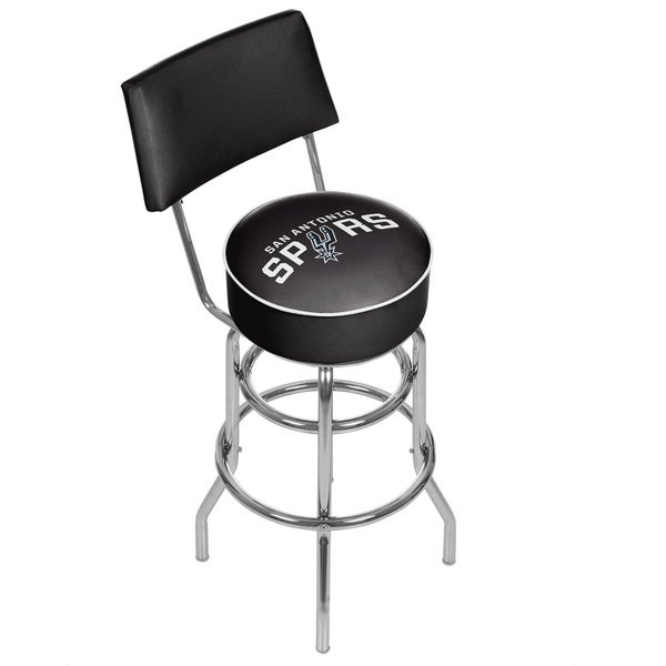 Spurs Trademark Games Officially Licensed NBA Padded Bar Stool with Back