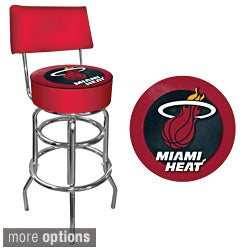 Heat Trademark Games Officially Licensed NBA Padded Bar Stool with Back