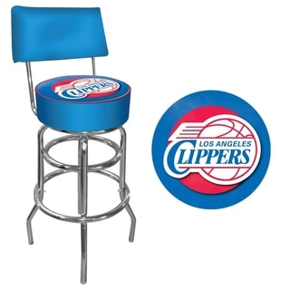 Pacers Trademark Games Officially Licensed NBA Padded Bar Stool with Back