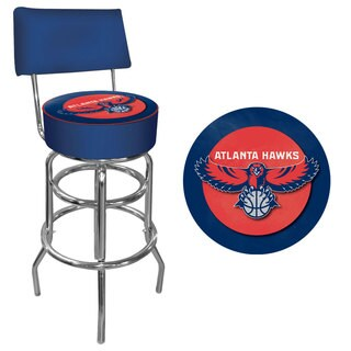 Hawks Trademark Games Officially Licensed NBA Padded Bar Stool with Back