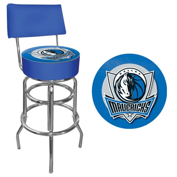 Trademark Games Offically Licensed NBA Padded Bar Stool with Back