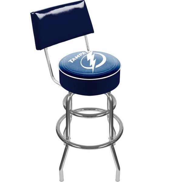 Trademark Games Officially Licensed NHL Padded Bar Stool with Back