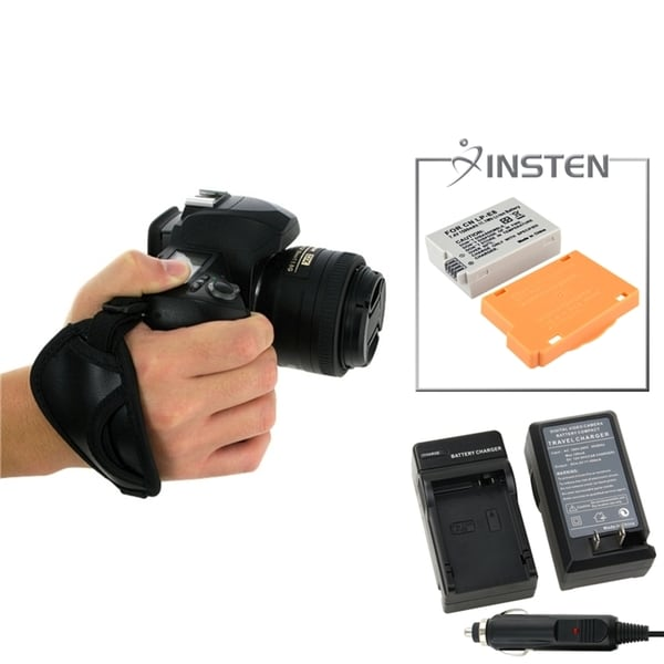INSTEN Battery/ Charger Set/ Hand Strap for Canon EOS 550D/ Rebel T2i
