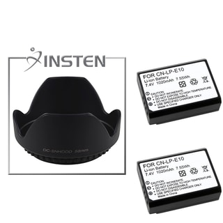 INSTEN Battery/ Lens Hood for Canon Rebel Kiss X50