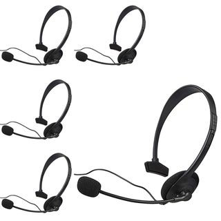 INSTEN Black Headsets for Microsoft xBox 360 (Pack of 5)