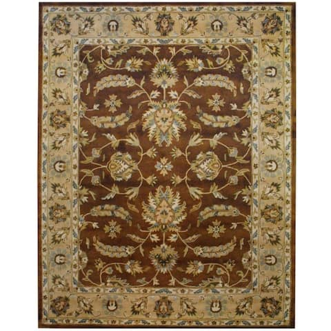 Handmade Mahal Wool Rug (India) - 8' x 10'