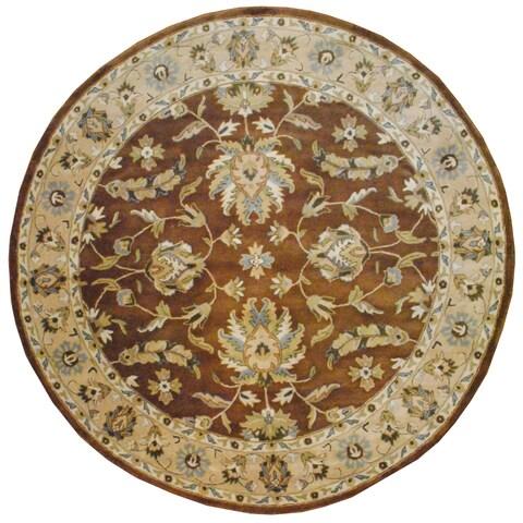 Handmade Herat Oriental Indo Mahal Wool Round Rug - 8' x 8' (India)
