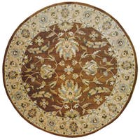 Herat Oriental Indo Hand-tufted Mahal Wool Round Rug (8' x 8') - 8' x 8'