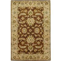 Handmade Herat Oriental Indo Mahal Wool Rug (India) - 5' x 8'