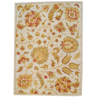 Herat Oriental Indo Hand-tufted Mahal Wool Rug (5' x 7')