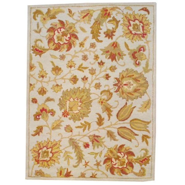 Handmade Herat Oriental Indo Mahal Wool Rug (India) - 5' x 7'