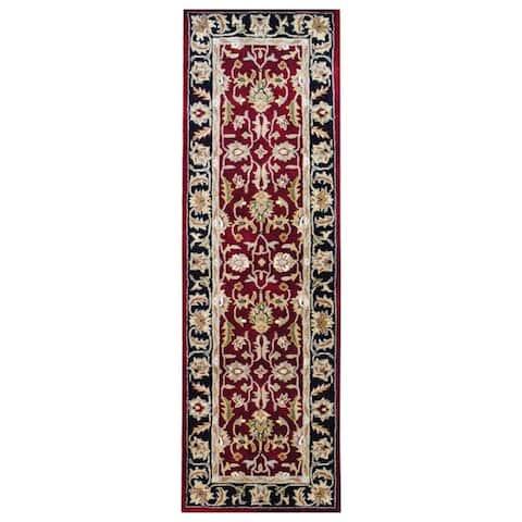 Handmade Mahal Wool Runner (India) - 2'6 x 8'