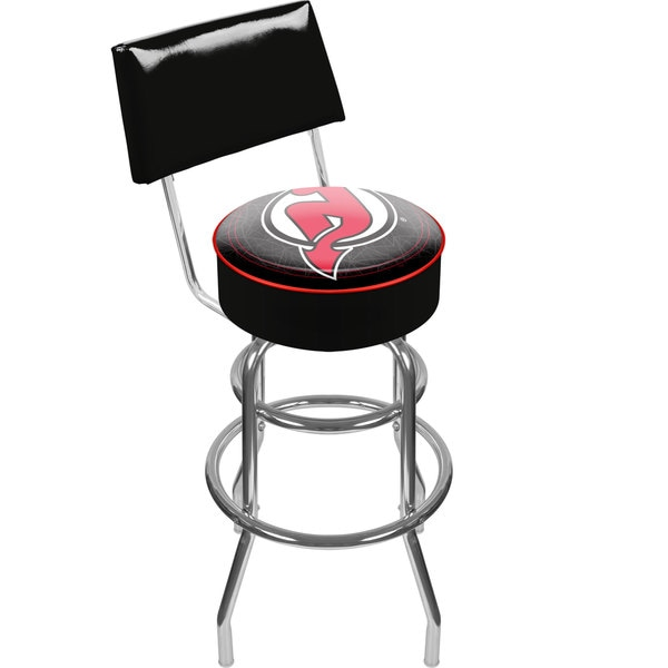 Officially Licensed NHL Padded Adjustable Bar Stool with Back