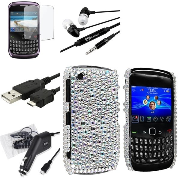 BasAcc Case/ Screen Protector/ Headset for BlackBerry Curve 9300 3G