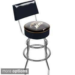 Trademark Games Officially Licensed Collegiate Padded Bar Stool with Back