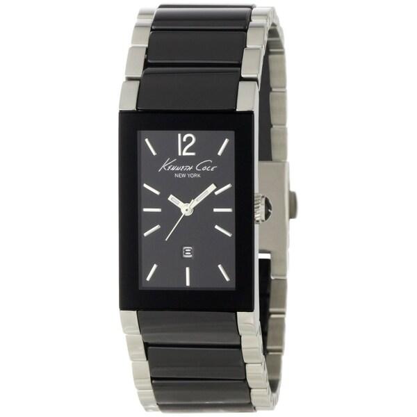 Kenneth Cole Men's 'KC4740' Black Ceramic Bracelet Quartz Watch