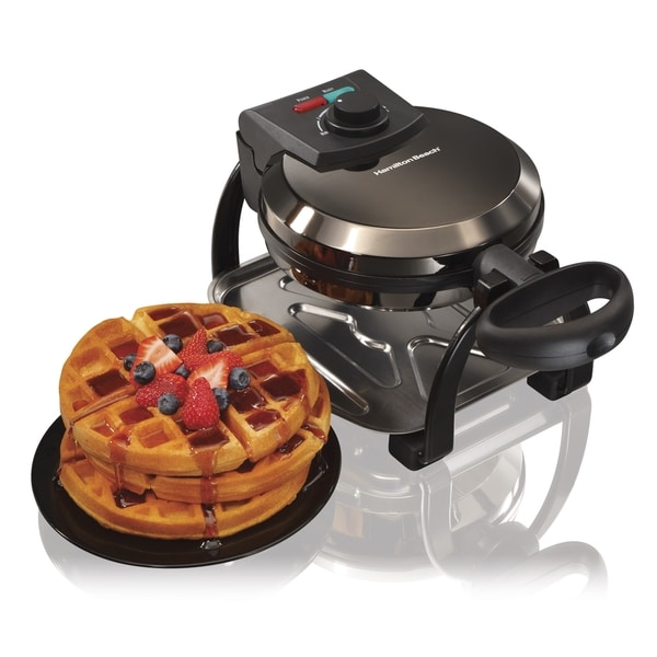 Hamilton Beach 26011 Black Ice Belgian Flip Waffle Maker