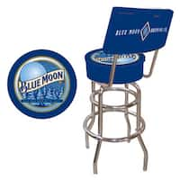 Trademark Games Blue Moon Padded Bar Stool with Back