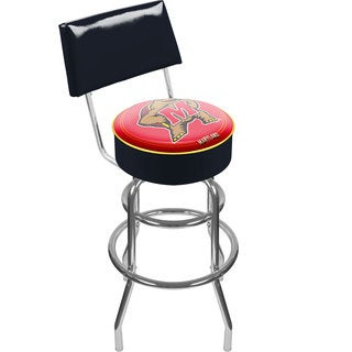 Trademark Games Officially Licensed NCAA Padded Bar Stool with Back