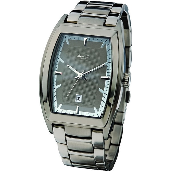 4d09373cd Shop Kenneth Cole Men's 'Reaction ' Grey Stainless Steel Quartz Watch -  Free Shipping Today - Overstock - 7713918