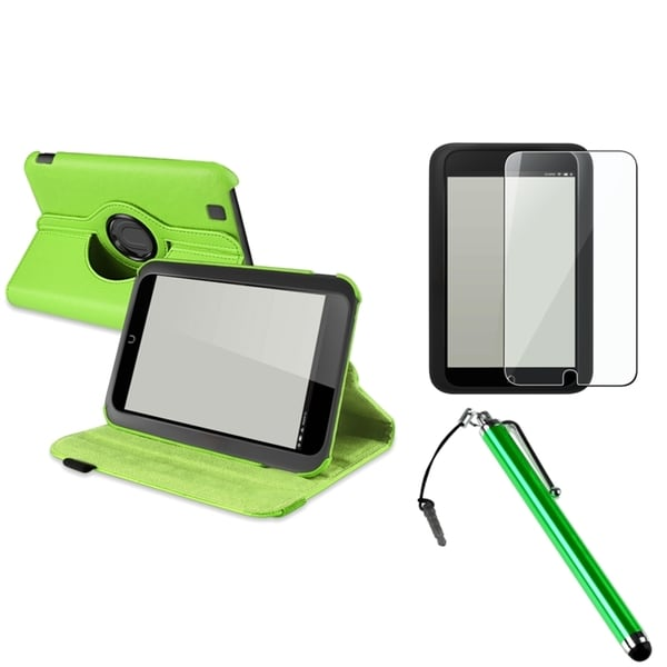 INSTEN Green Phone Case Cover/ LCD Protector/ Stylus for Barnes & Noble Nook HD