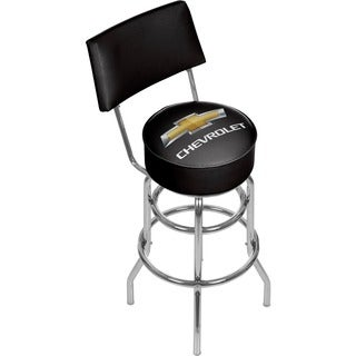 Trademark Games Black/ Silver Chevrolet Padded Bar Stool with Back