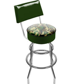 Trademark Games Hunt Camo and Skull Padded Swivel Bar Stool with Back
