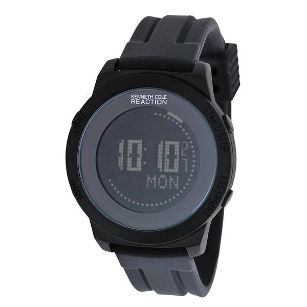 Kenneth Cole Men's Black Silicone Quartz Watch