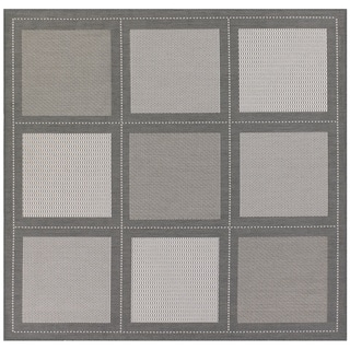 "Recife Summit/Grey/ White Rug (7' x 6"")"