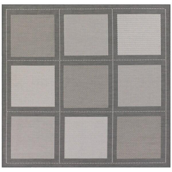 """Recife Summit/Grey/ White Rug (7' x 6"""")"""