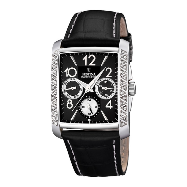 Festina Women's Multifunction Black Leather Strap Quartz Watch