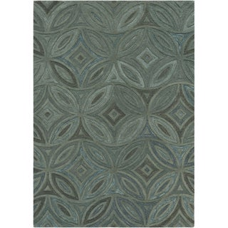 Hand-tufted Green English Ivy Floral Wool Rug (2' x 3')