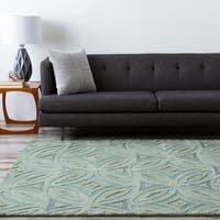 Hand-tufted Green English Ivy Floral Wool Area Rug - 2' x 3'