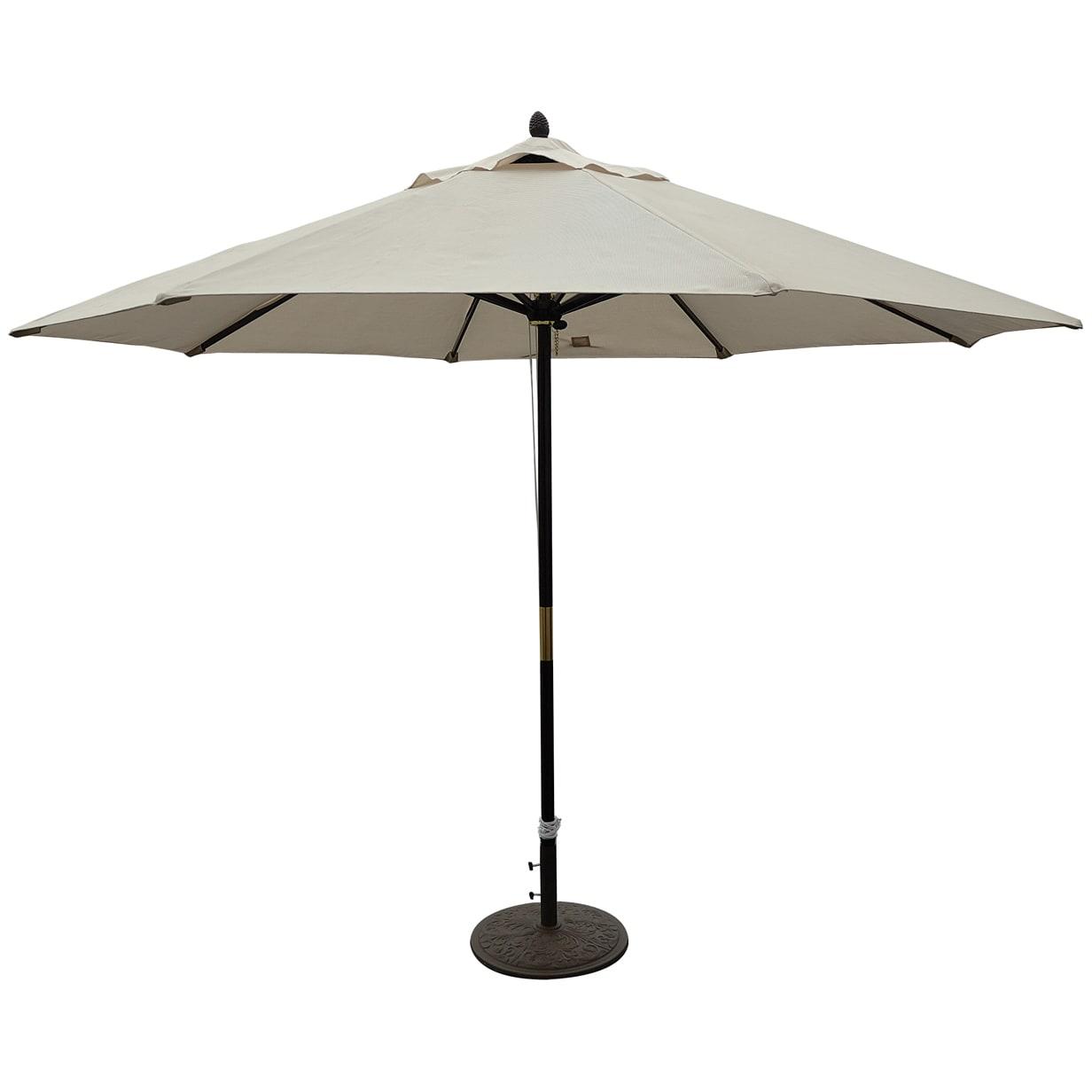 Outdoor Patio Market Umbrella Non Tilt Pulley Lift System Weather Resistant 11